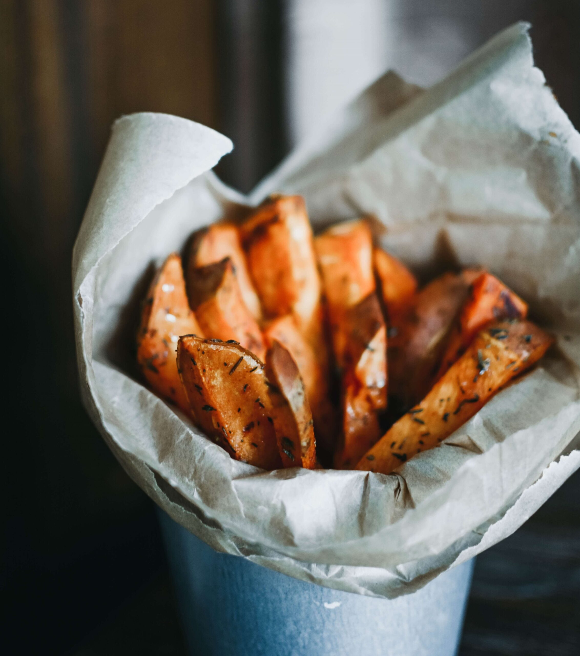 Sweet potatoes in a cup