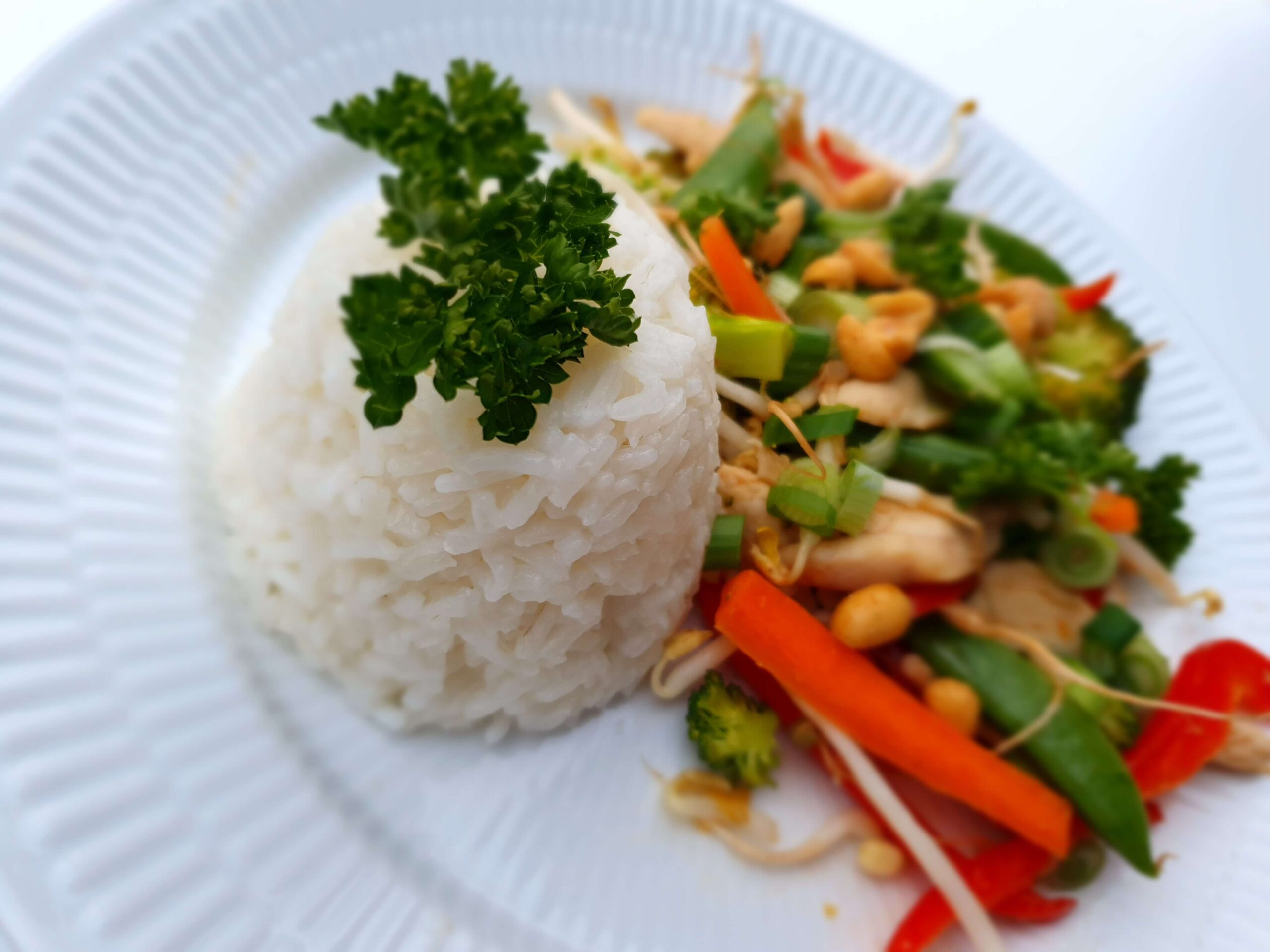 wok østerssauce ris